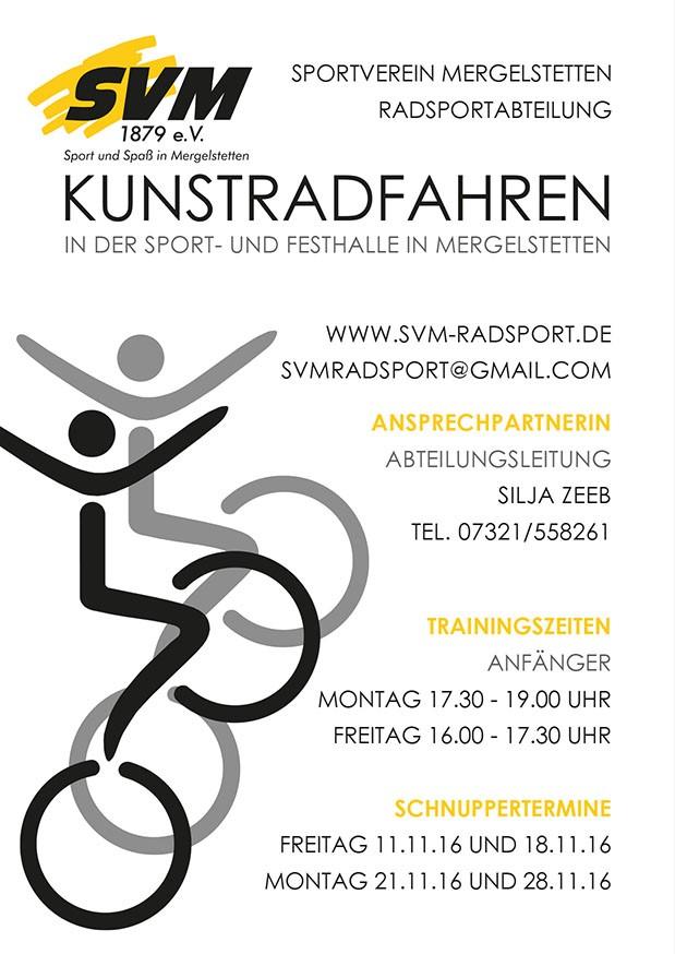 Schnuppertraining im Kunstradsport