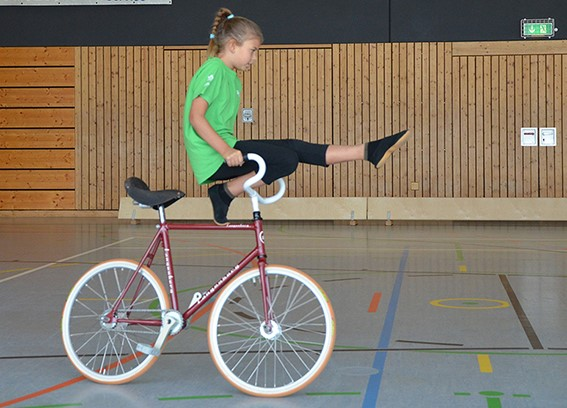 Kunstradfahrer kämpften um den Wanderpokal